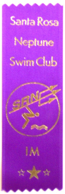 "F-1 - Swim Meet Flat Satin Ribbon - 2"" x 6"""