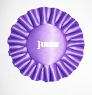 Rosette w/Title in Button