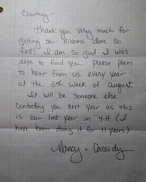 Nancy & Cassidy tesimonial